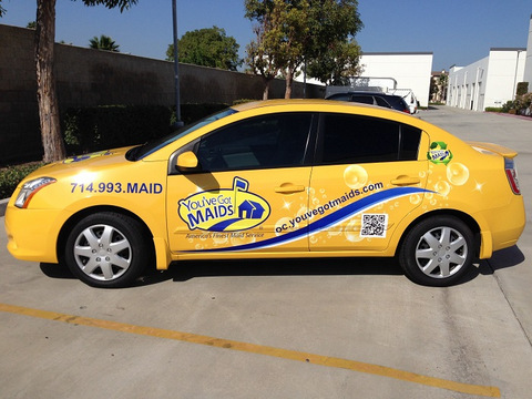 Vehicle graphics for Orange County franchises