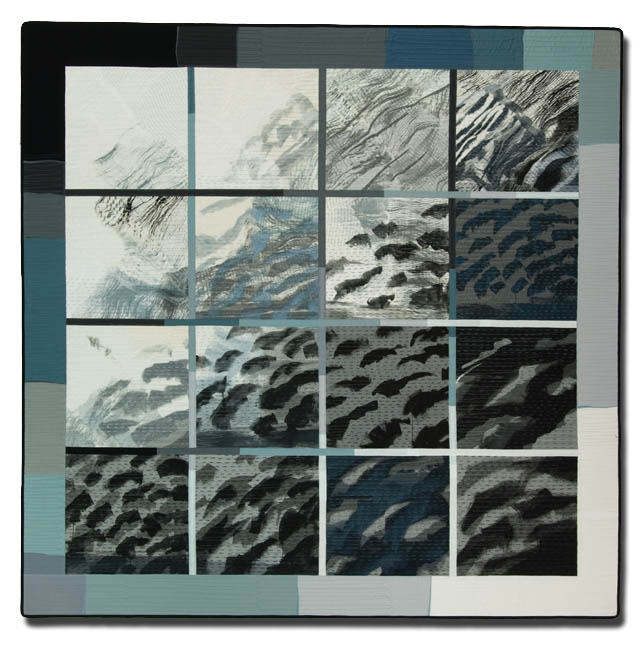 'Wind over Water,' made by Pauline Burbidge, made in Allanton, Scotland, United Kingdom, dated 2003, 72 x 71.5 in, IQSCM 2005.004.0001