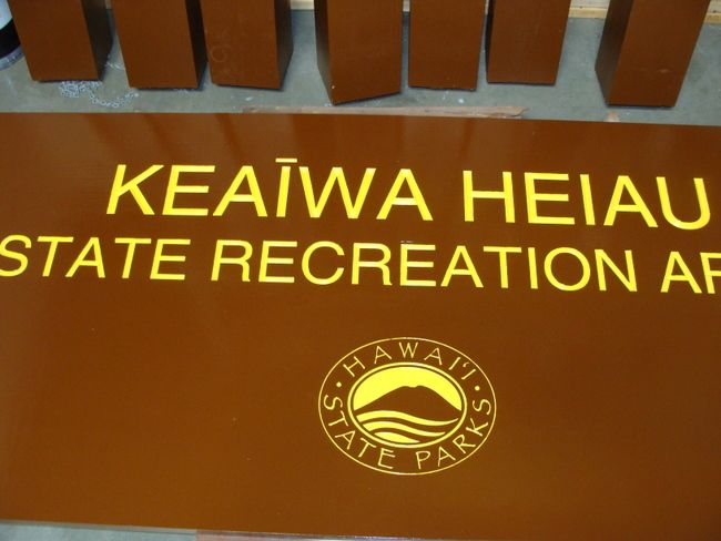 M3216 - Carved Cedar Sign for Hawaii State Park (Gallery 16)
