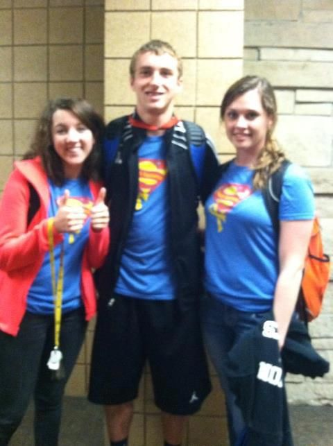 Maddy, Cameron and Phoebe supporting Sammy at CHS!! Awesome!!