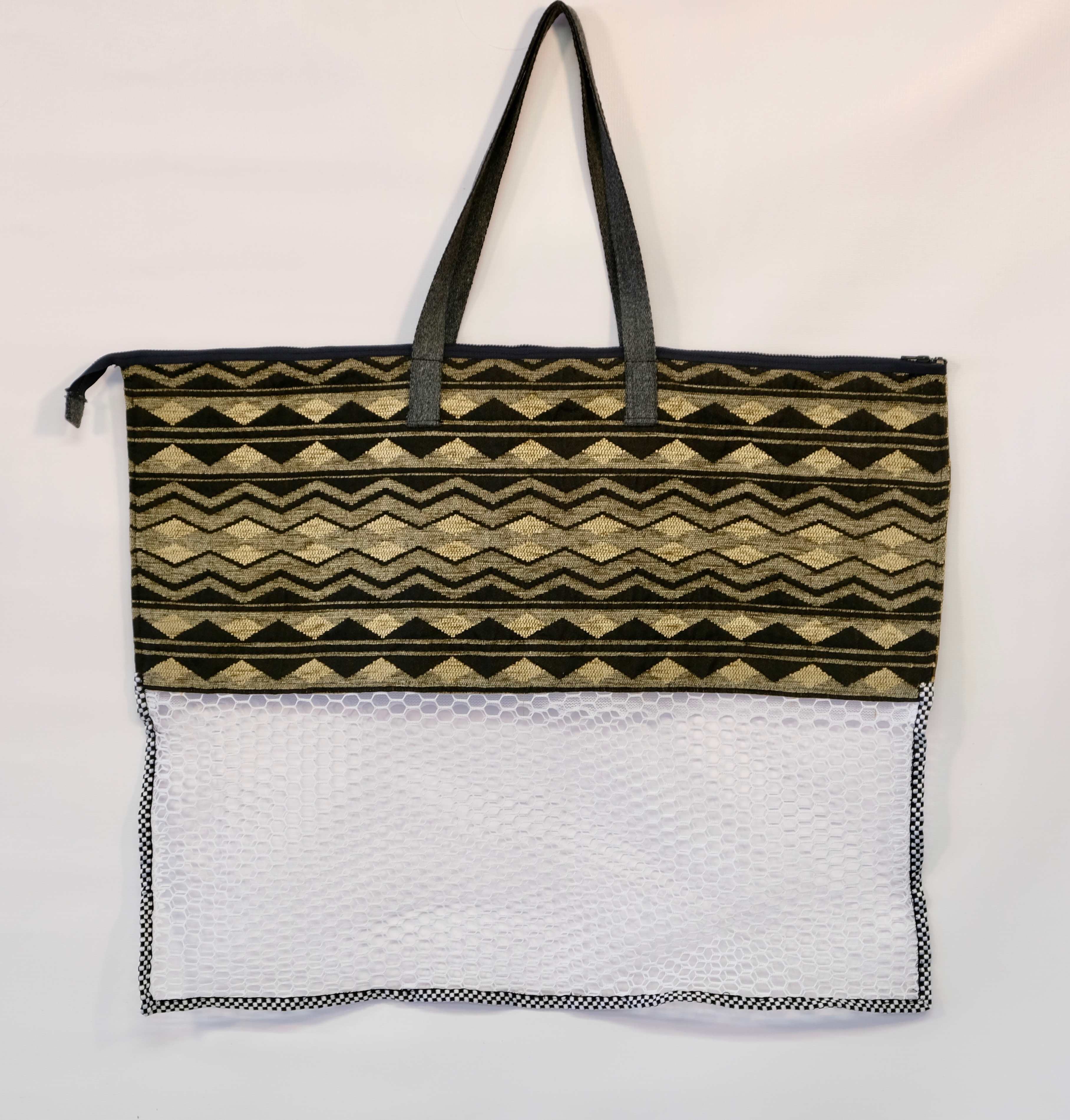 Zipped Tapestry Tote