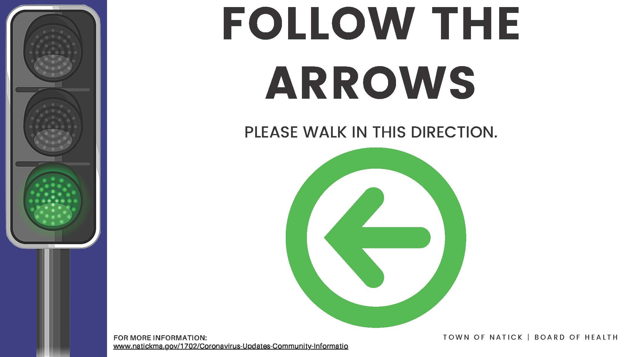 Follow the arrows reverse (Corrugated plastic) Outdoor Sign
