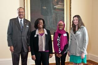 Rep. John Knight with Jordan Rivers, Ameerah Sanders, & Jennifer Norris