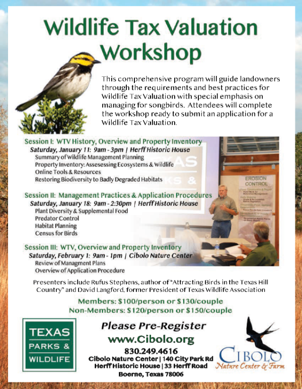 FARM: Wildlife Tax Valuation 3-Part Workshop
