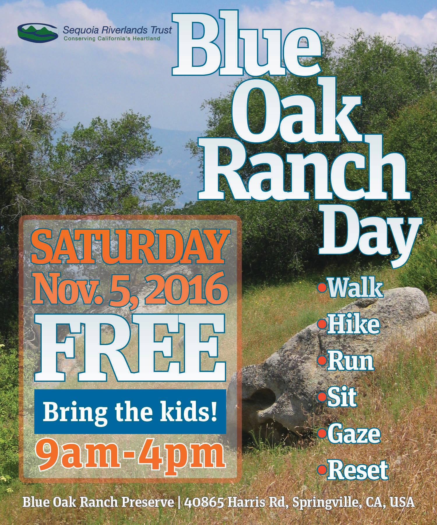 Blue Oak Day this Saturday