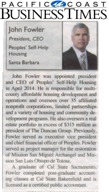 Who's Who in Nonprofits: John Fowler, President/ CEO- Pacific Coast Business Times