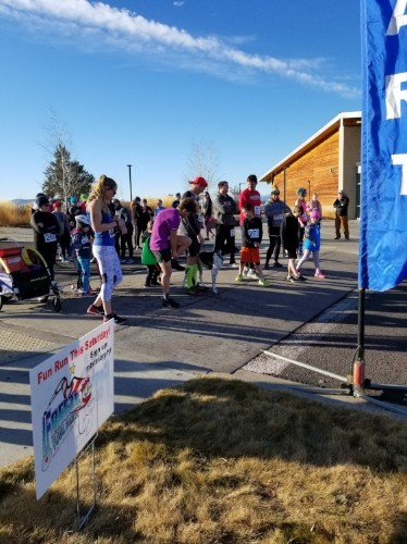 "Participants ""Freeze Their Fanny"" for MountainStar's Annual Fun Run"