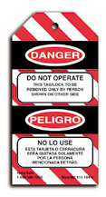Do Not Operate Lockout Tag (Spanish version)
