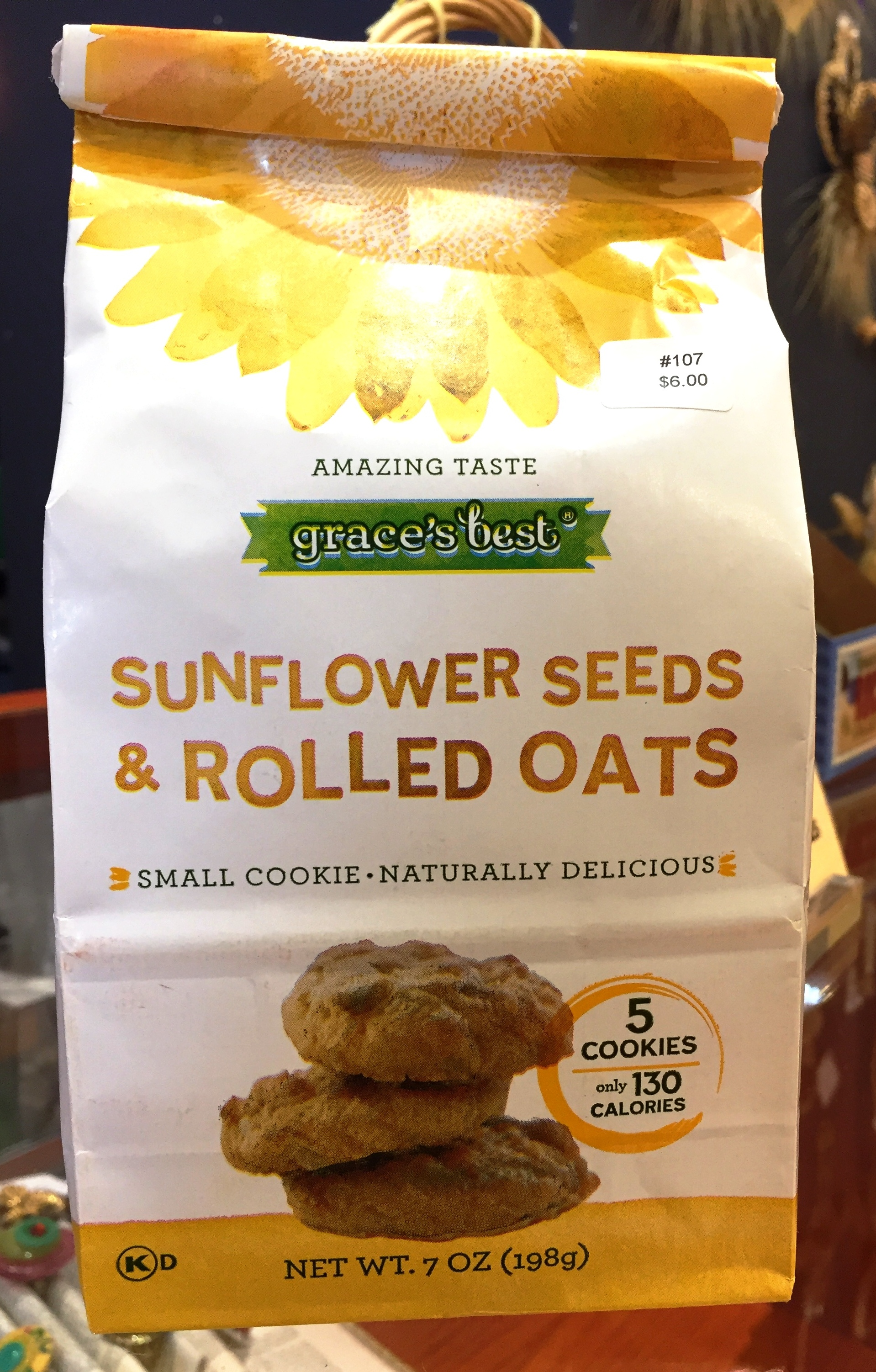 Grace's Best Sunflower Seeds and Rolled Oats Cookies