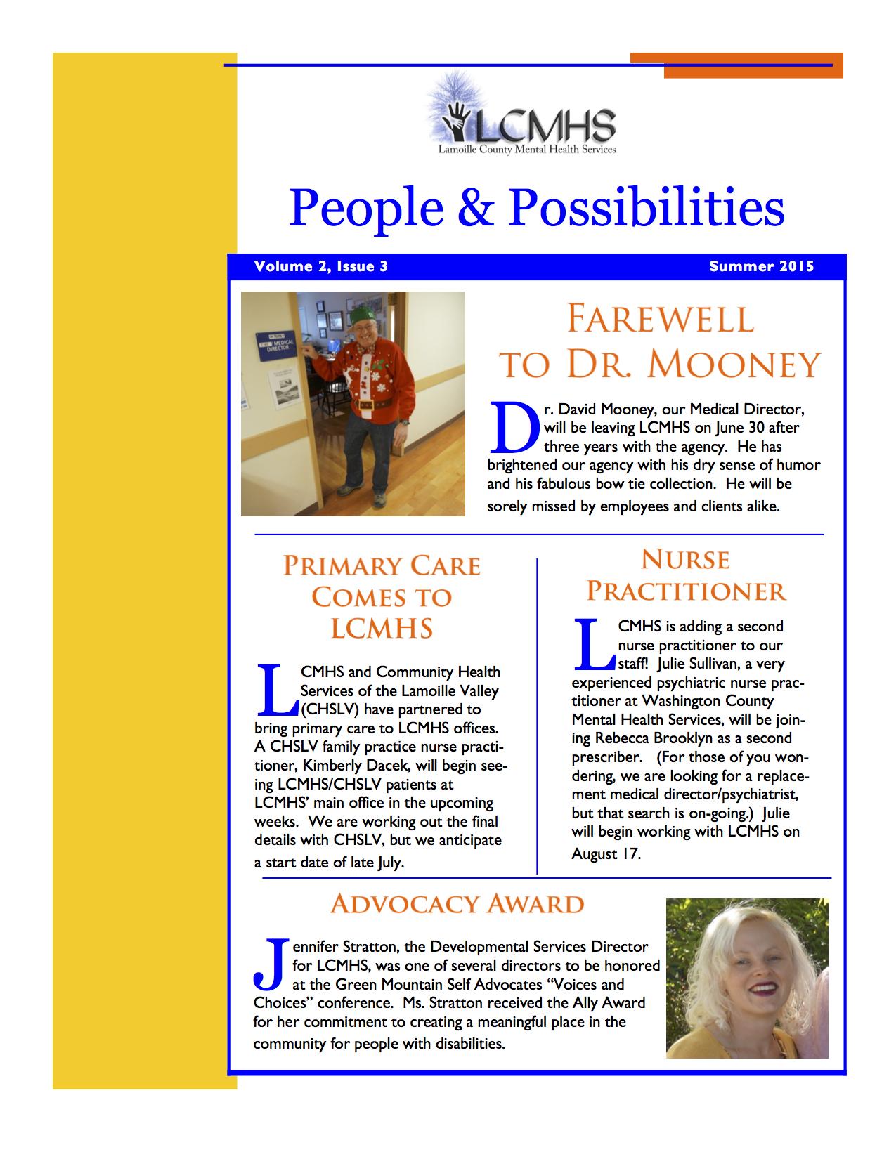 2015 Summer Newsletter