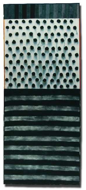 'Dot Flag,' made by Mary Anne Jordan, made in Lawrence, Kansas, United States, dated 2006, 101.5 x 43 in, IQSCM 2006.052.0001