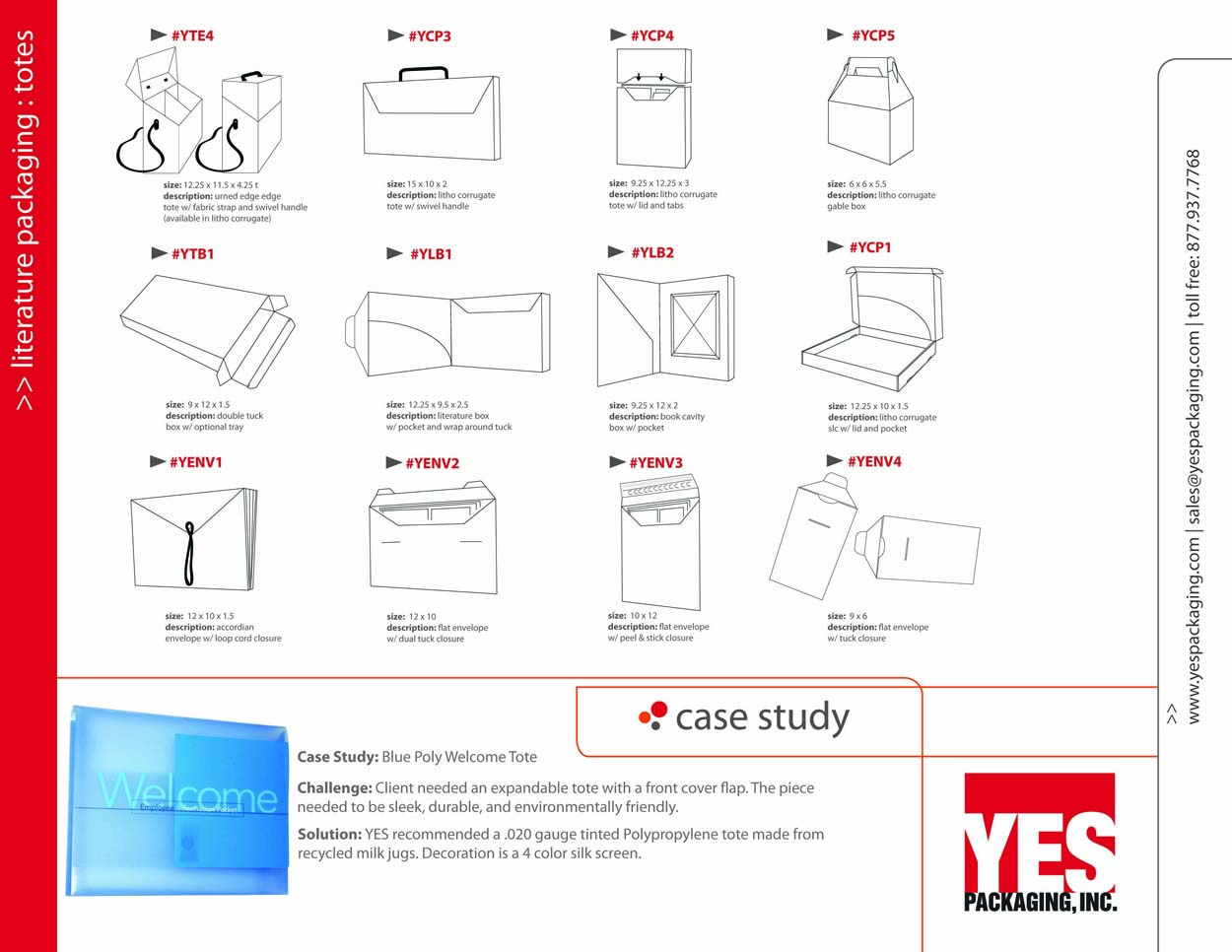 Tote Packaging Catalog Page