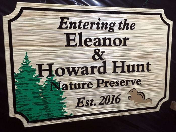 M22071 - Carved  Nature Preserve Entrance Sign