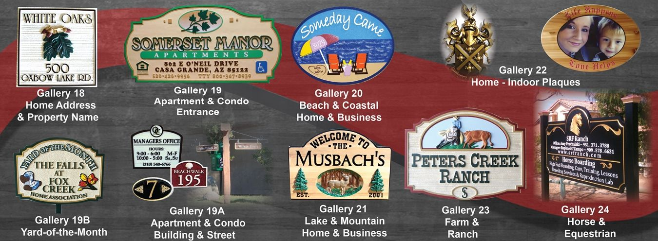 Signs for Homes, Apartments, Condos, Beachhouses, Cabins, Cottages, Farms and Ranches