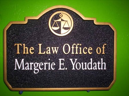 A10110 - Sandblasted HDU Attorney Sign
