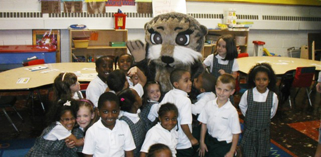 Josh the Otter visits classrooms around the world!