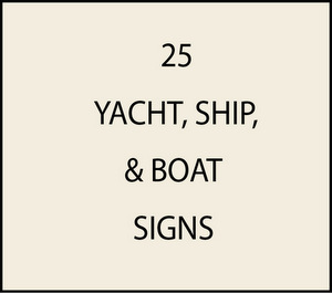 L21992 - Yacht and Ship Name & Hailport Plaques