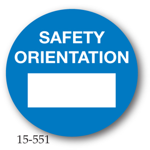 Safety Orientation Label