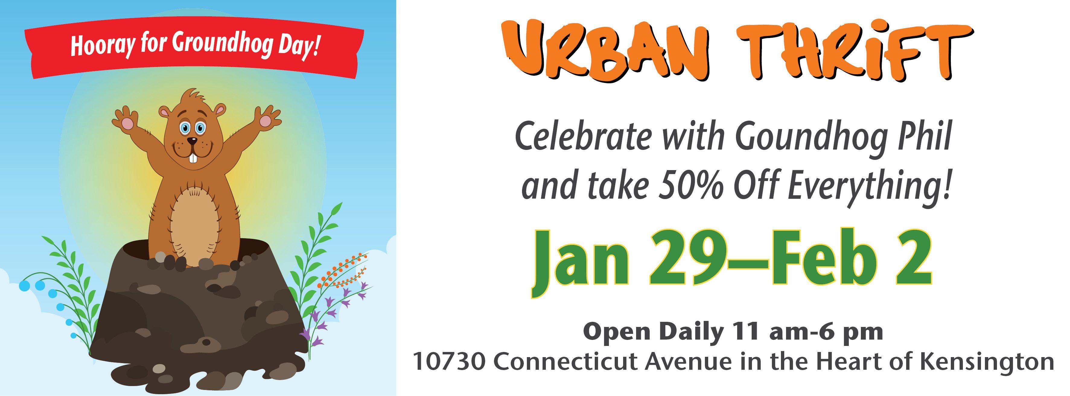 Urban Thrift Groundhog Day Sale