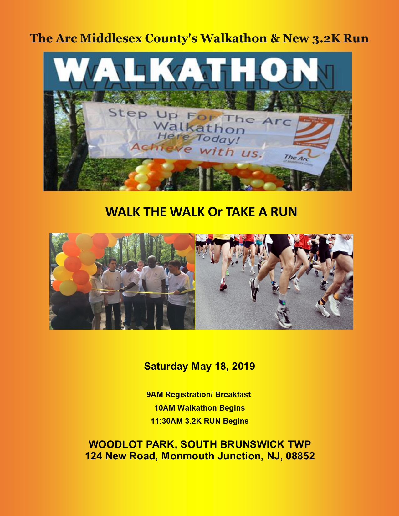 The Arc Middlesex County's 2019 Walkathon & New 3.2K Run