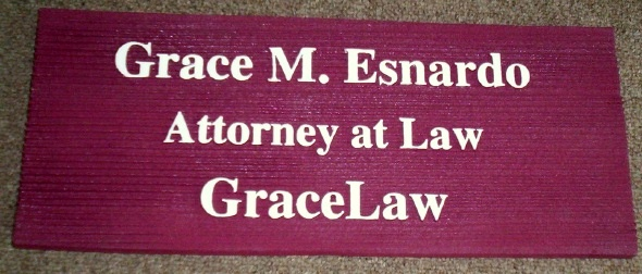 A10210 - Sandblasted Sign for  Door or  Wall , Attorney Office