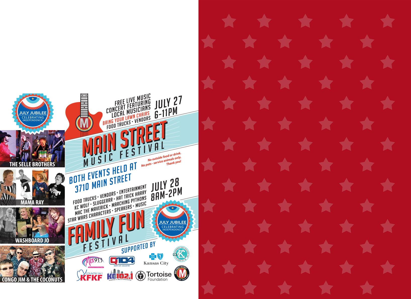 July Jubilee/Main Street Music Festival!