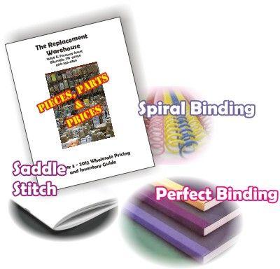 catalogs saddle stitch perfect binding spiral