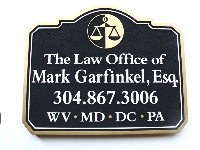 "A10180 - Attorney Wall or Blade (""Shingle"") Sign"