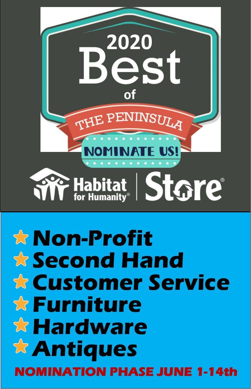 2020 Best of the Peninsula Nomination Phase