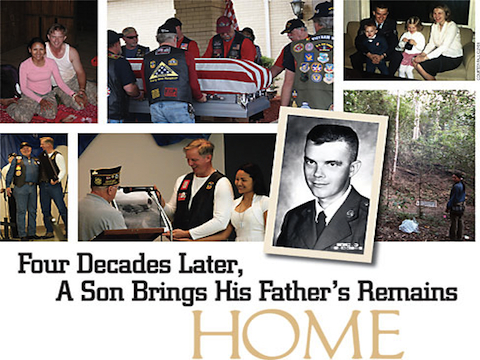 """Four Decades Later, A Son Brings His Father's Remains Home,"" VVA Veteran article"