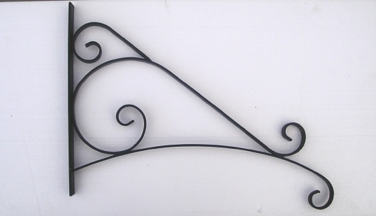 M4501 -  Custom Curved Ornate Scroll Bracket