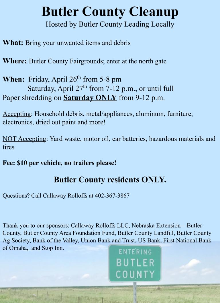 Butler County Cleanup