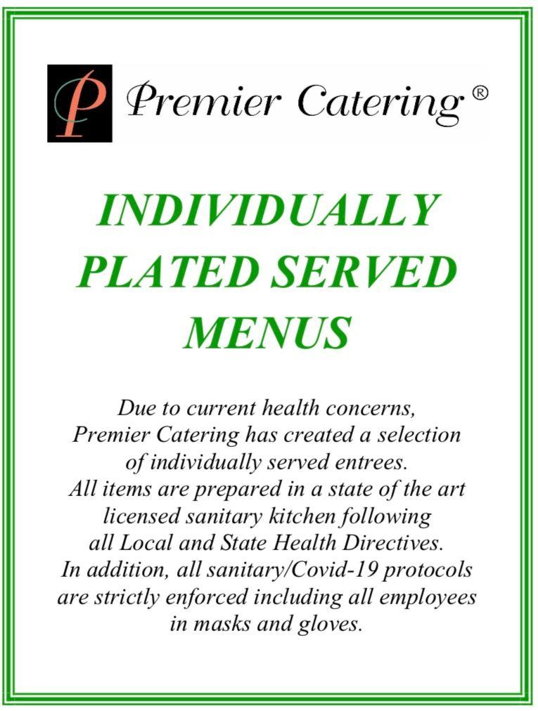 Plated Served Menus