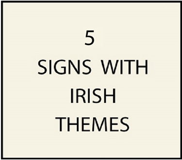 5. - I18400 - House and Estate Address Signs with Carved Irish or Celtic Text and Art, including Shamrocks