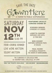 Grown Here: A Farm to Table Experience will be here on November 12, 2016