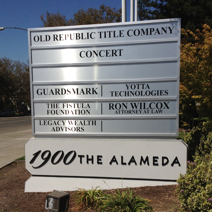 1900 The Alameda Monument Sign