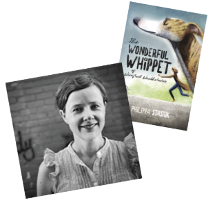 Philippa Stasiuk and her book, The Wonderful Whippet of Winifred Weatherwax