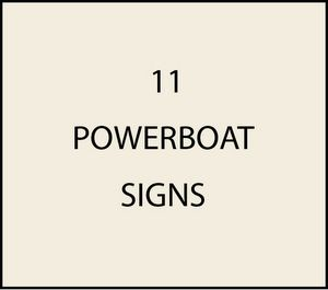 L21450 - Powerboat Signs