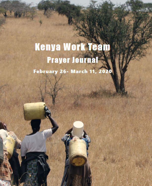 2020 Kenya Prayer Journal