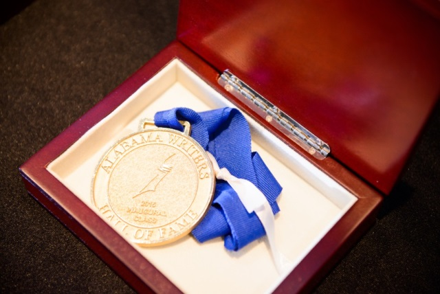 The Alabama Writers Hall of Fame Medal.