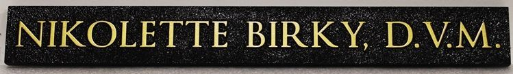 "BB11809 - Carved and Sandblasted Office Sign for ""Nicholette Birky, DVM"""