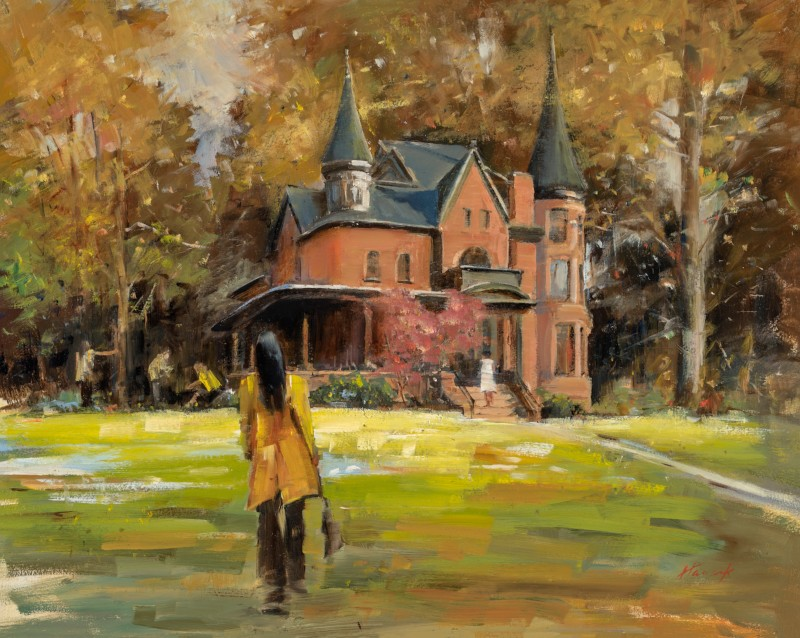 Eccles Art Center painting by Jerry Hancock
