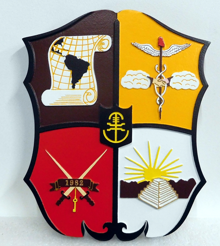 CB5435 - Insignia of a Unit of the US Army, Multi-level Relief