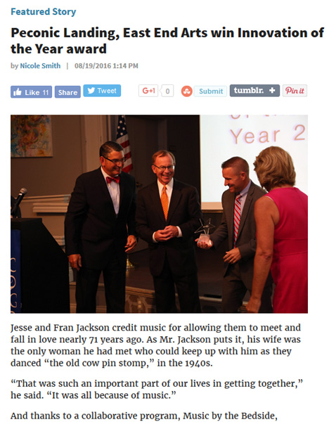 FEATURED STORY // Peconic Landing, East End Arts win Innovation of the Year award