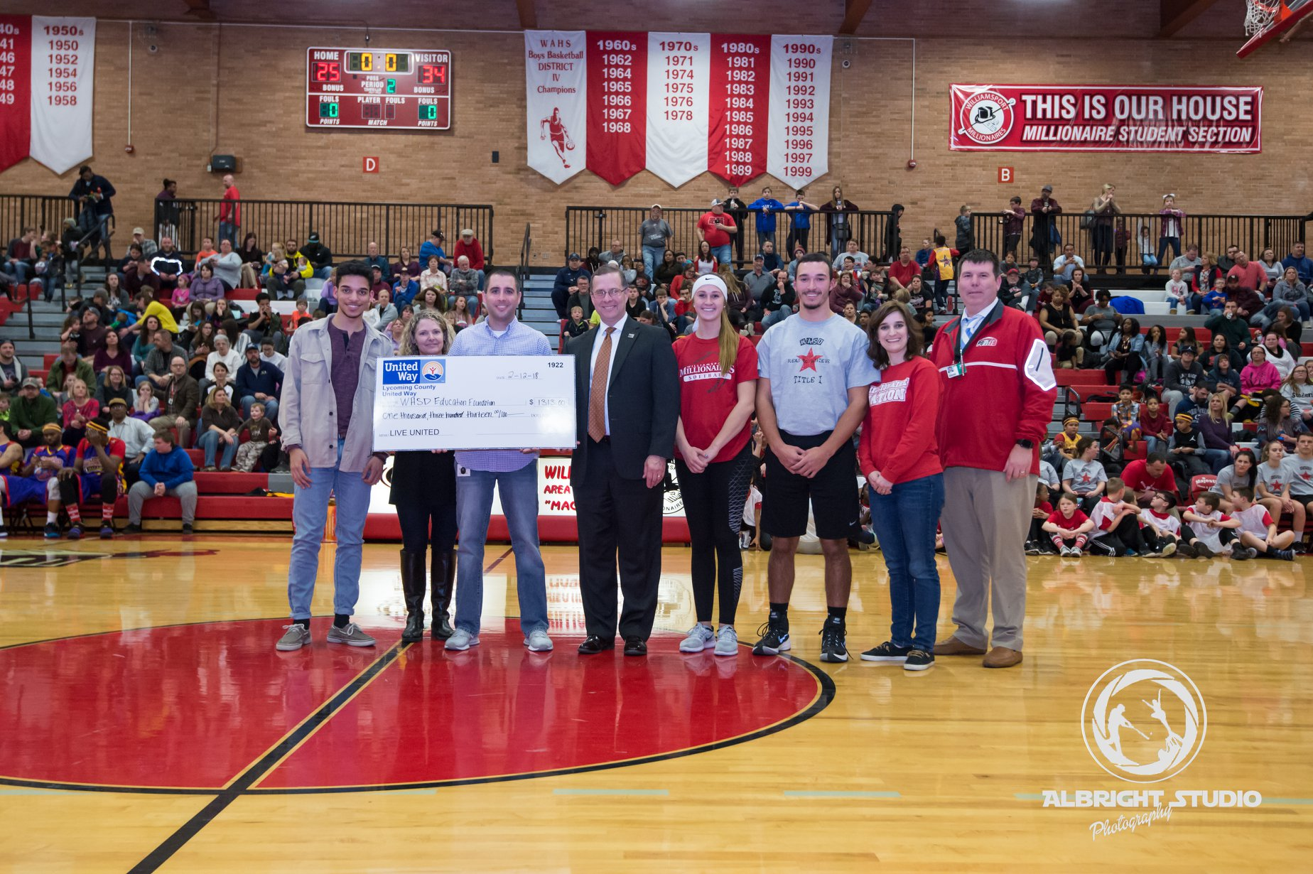 Lycoming County United Way Presents $1,313 to WASDEF