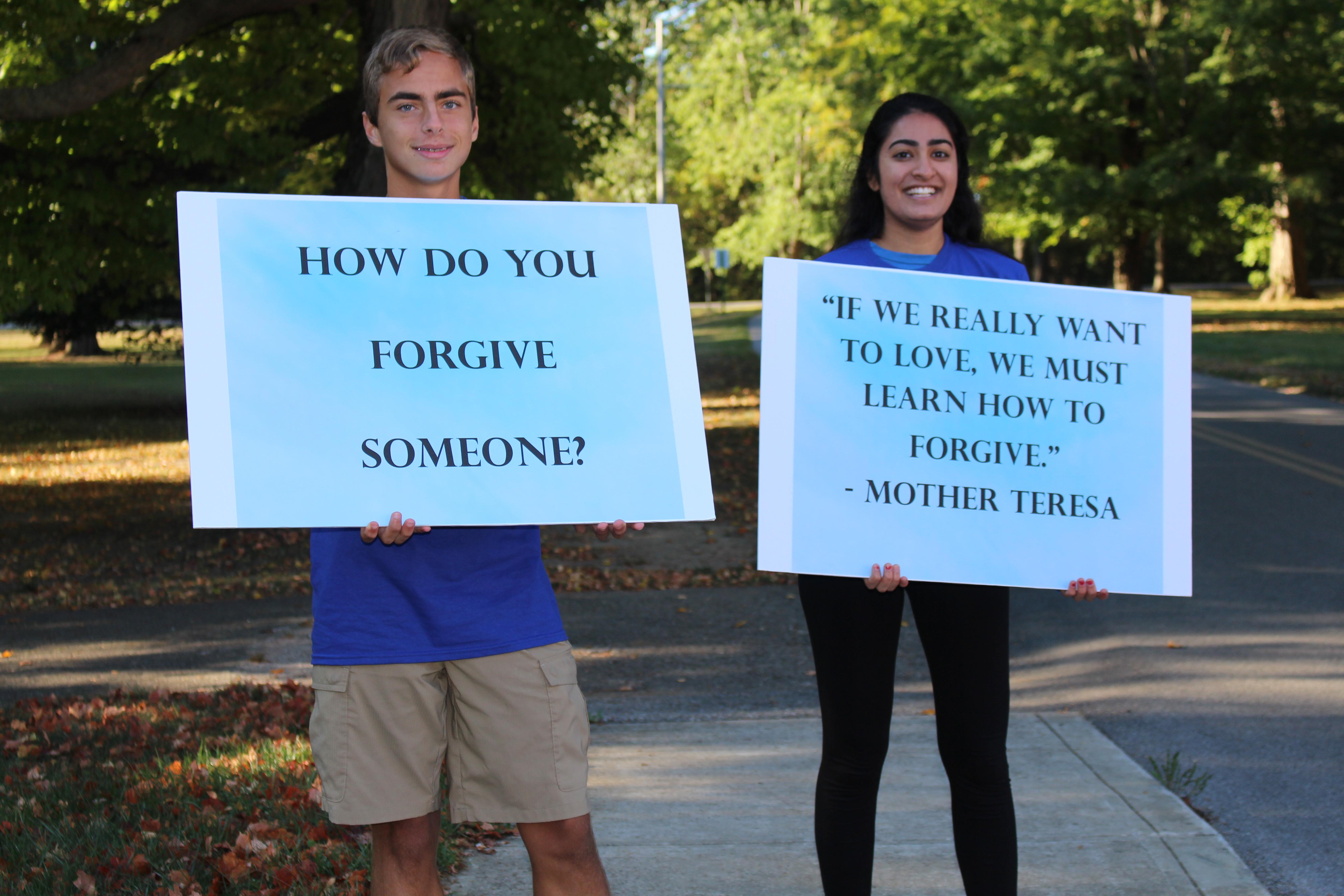 Youth Board Members Assist in Forgiveness Walk