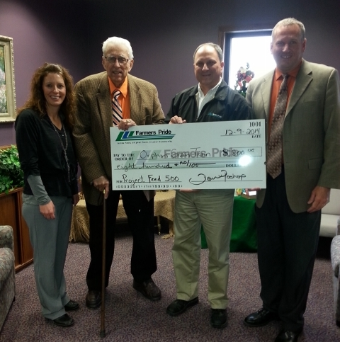 Farmers Pride Cooperative makes donation