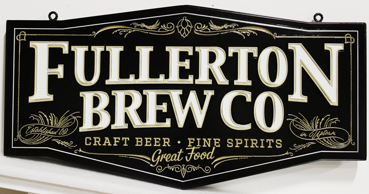 RB27627 - Classic Engraved Sign for the Fullerton Brew Company