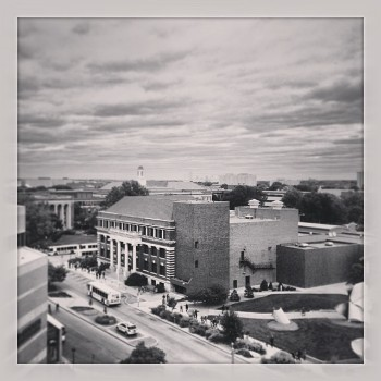 Lincoln, NE Skyline B&W