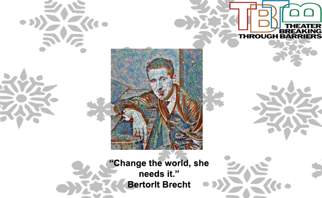 The New Logo for the TBTB 2019 fundraiser campaign with a Brecht picture with a filter